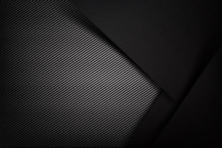 Abstract background dark and black carbon fiber  illustration eps10