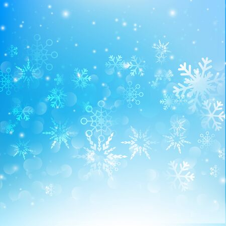 snow fall: Snow fall with bokeh abstract blue background vector illustration eps10 Illustration