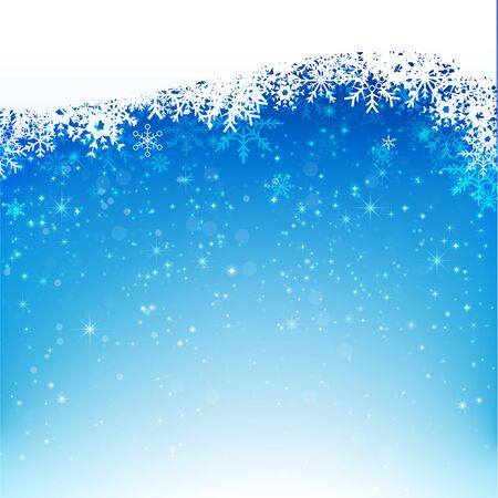 snow fall: Christmas snowflake with night star light and snow fall abstract bakcground vector illustration eps10 002