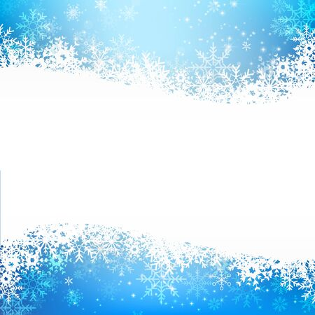snow fall: Christmas snowflake with night star light and snow fall abstract bakcground vector illustration 002