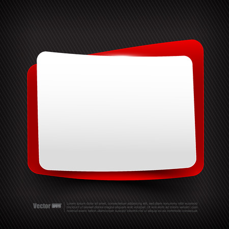 blank tag: Blank red and white speech bubble tag layered with shadow vector illustration
