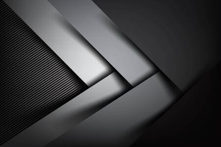 dark fiber: Abstract background dark and black carbon fiber vector illustration eps10 Illustration