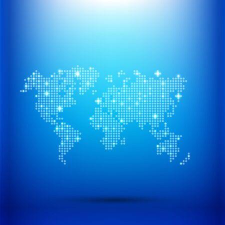 Abstract background dot worldmap glow lighting element vector illustration eps10