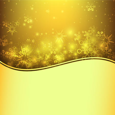 snow fall: Snow fall with bokeh and lighting element abstract background  illustration eps10 Illustration