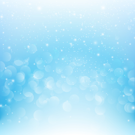 snow fall: Snow fall with bokeh abstract blue background  illustration eps10