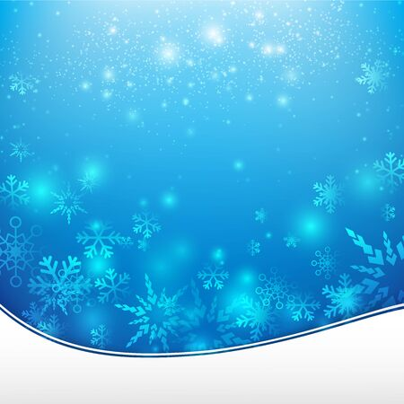 Snow fall with bokeh and lighting element abstract background  illustration eps10 Illustration