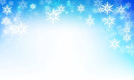 snow fall: Snow fall with bokeh and lighting element abstract background vector illustration eps10