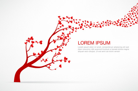 Heart Tree element for valentine day and wedding card decoration vector illustration eps10 Illustration
