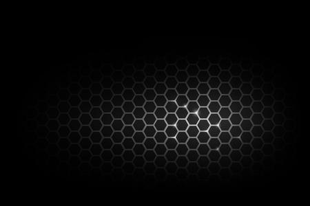 暗いと金属ハニカム パターン ベクトル イラスト eps 10 黒