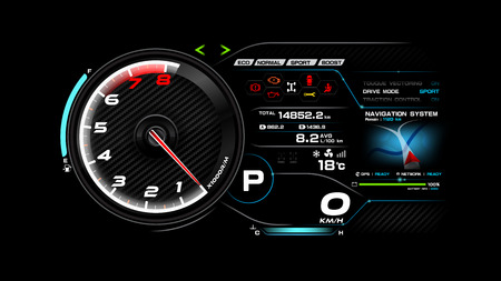 Futuristic automobile concept, Car dash board vector illustration eps 10