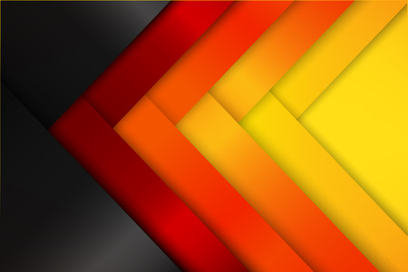 Abstract red orange yellow background dark and layered overlap element vector illustration eps10 Illustration