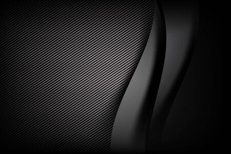 layered: Abstract background dark and black carbon fiber with curve and layered overlap element.
