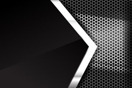 Metallic steel and honeycomb element background texture vector illustration