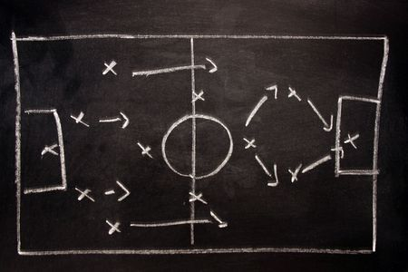 formation: football formation tactics Stock Photo