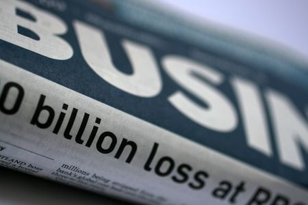 crunch: business times during the credit crunch Stock Photo