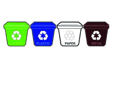 color separation: Recycle bins
