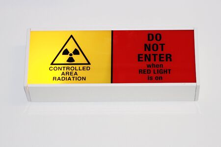 controlled area radiation sign photo