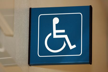 wheel chair sign found in a hospital photo