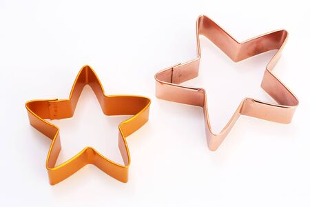 Christmas cookie cutters in the shape of stars photo