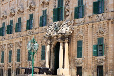 castille: Auberge de Castille, the office of the Prime Minister in Valletta, Capital city of Malta Stock Photo