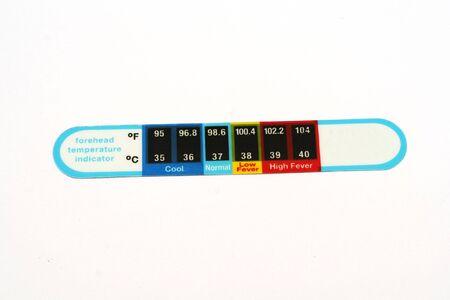 celcius: forehead temperature indicator for babys Stock Photo
