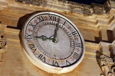 church clock showing nice o clock Stock Photo - 6015869