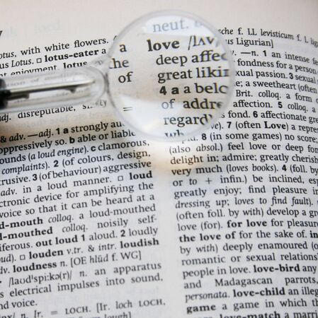 searching for love in a dictionary photo