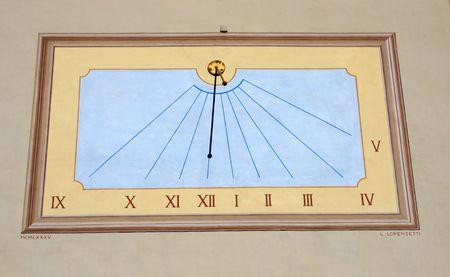 ancient sun dial found in Loacrno, Switzerland photo