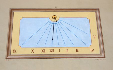 timekeeping: ancient sun dial found in Loacrno, Switzerland