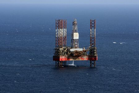 off day: oir rig out at sea in Malta Stock Photo