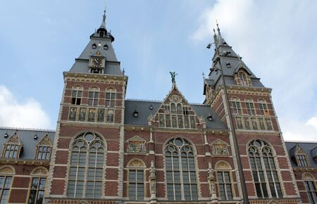 gabled: A view of the of the Rijksmuseum in Amsterdam