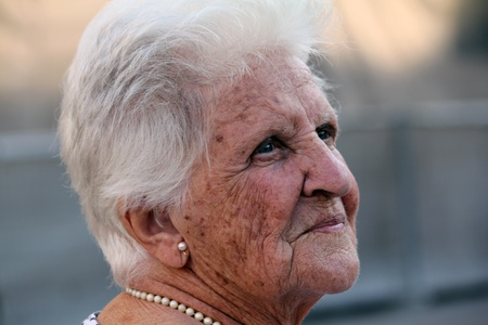 octogenarian: portrait of a beautiful old lady Stock Photo