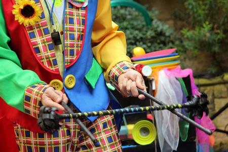 child's: a clown working his magic tricks