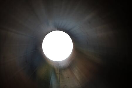 inside a cylinder with a white ending for copy space  Stock Photo - 11866949