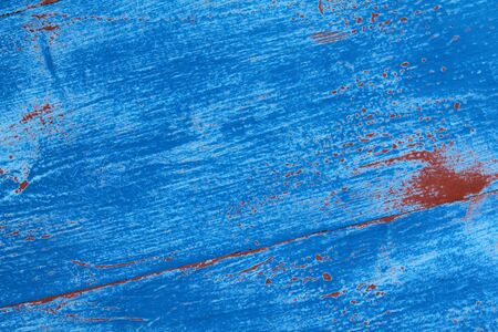 blue paint on wooden textured background Stock Photo - 12921627