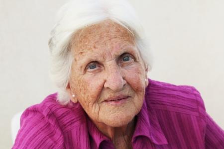 90: Beautiful 90 year old Maltese woman Stock Photo