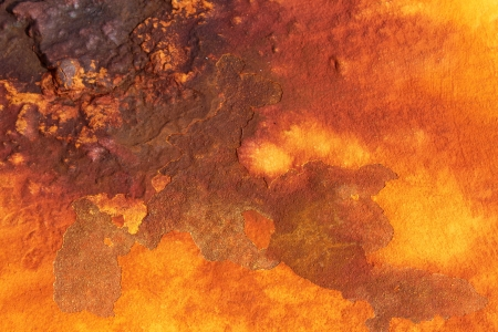 metal corrosion: deep shades of orange rust backround Stock Photo