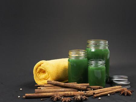 Thai green balm Stock Photo