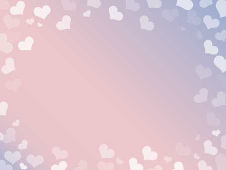 copy space: hearts frame for valentines day on gradeint background