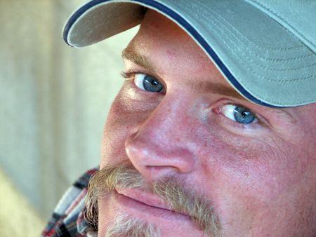 Closeup of a blond southern man. photo