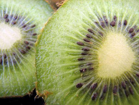 macroshot: Macroshot of a kiwifruit. Stock Photo