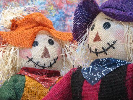 Portrait of a couple Scarecrows.