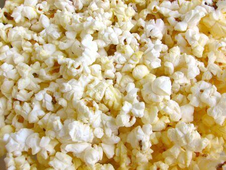 Closeup of popcorn.