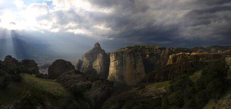 kalabaka: landscape of meteora kalabaka greece Stock Photo