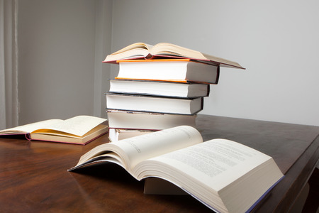 history books: Stack of History Books Stock Photo