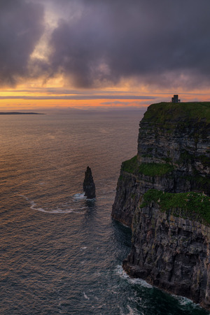 Sunset Cliffs of Moher, Ireland Stock Photo