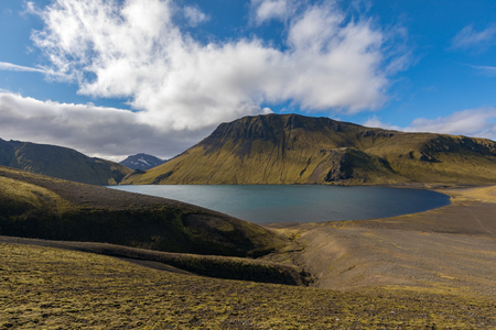 Lake in the Highlands of Iceland near Landmannaleid Banco de Imagens
