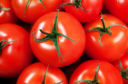 Juicy organic Cherry Tomatoes - Close-up