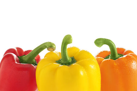 Bell Peppers isolated on white background