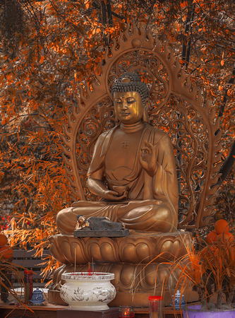 gautama buddha: A Sakyamuni statue in statue. Gautama Buddha, also known as Siddhartha Gautama, Shakyamuni, or simply the Buddha, was a sage on whose teachings Buddhism was founded.